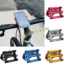 Solid Metal Bike Bicycle Motorcycle Handle Phone Mount Holder For CellPhone GPS