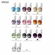Cute 18K Gold Filled Womens crystal Hoop Earrings Statement free shipping