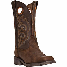 Laredo Mens Tan Vintage Leather Prowler 11in Square Toe Cowboy Boots