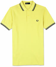 Fred Perry Twin Tipped Polo Shirt in Charteuse, RRP 54.99, *BNWT*