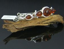 NATURAL BALTIC AMBER STERLING SILVER 925  BRACELET JEWELLERY Certified GIFT BOX