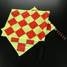 "2Pcs Football Soccer Referee Flags 16.54 x 13.39"" Flags For Sports Linesman Flag"