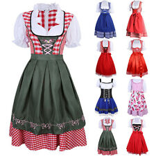 US Oktoberfest Dress German Bavarian Dirndl Beer Maid Fancy Dress Costume Party