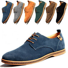 Men's European style oxfords leather Shoes Suede Dress Formal Casual Multi Size