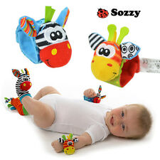 Hot Sozzy Baby Infant Rattle Foot Socks and Wrist Toys Animals 0 - 1 Years