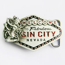 Men Belt Buckle Sin City Sign Belt Buckle Gurtelschnalle Boucle de ceinture