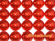 12MM Red Half Round Flat Back Pearl Bead Gems Acrylic Embellishment Scrapbook