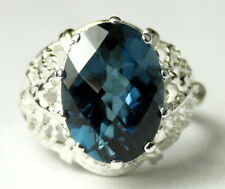 London Blue Topaz, 925 Sterling Silver Ring, SR260-Handmade