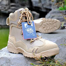 Mens Outdoor High Top ankle Boots Military Combat Tactical Army Training Desert