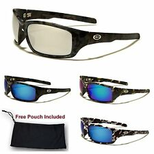 Xloop Mens Sports Camo Camouflage Wrap Hunting Military Designer Sunglasses