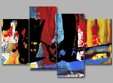 Abstract Paintings Wall Art Prints Split Extra Large 3&4&5 Panel Canvas Picture