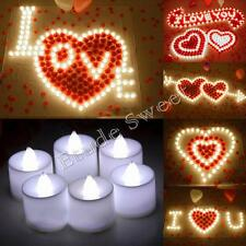 3 Colors Flameless LED Candle Flickering Tea Lights Battery Operated Night Light