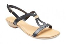 NEW Sandler Black Leather Sandals Womens Shoes