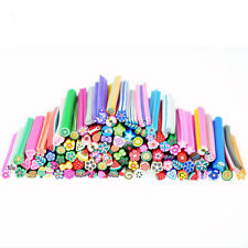 50PCS Fruit Nail Art Fimo Canes Rods Sticks Stickers Tips 3D Decoration