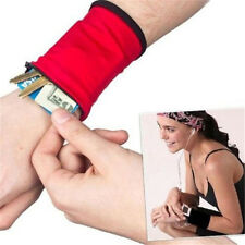 Outdoor Wrist Band Safe Wallet Storage Zipper Ankle Wrap Real Nice Sport Strap