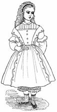 """1854 Dress with Shoulder Detail Sewing Pattern Fits 18"""" American Girl Doll # 57"""