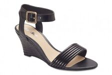 NEW Sandler Hayley Black Leather Heels Women Shoes