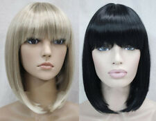 Fashion BOB Short Straight bangs Women Female Lady Hair Full Wig+ wig cap
