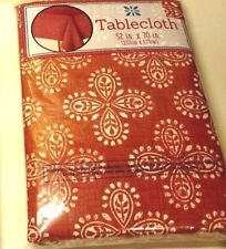 """Tablecloths Party Accessory Decor Abstract Five Choices Polyester 52"""" x 70"""" NIP"""