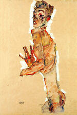 Self Portrait with Splayed Fingers by Egon Schiele Expressionism Art Print