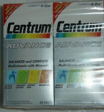 CENTRUM ADVANCE Multi-vitamin & Mineral Adult Health 100 or 200 Tablets New