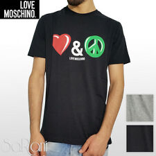 T-shirt Short Sleeve LOVE MOSCHINO Love And Peace Jersey Black Grey SARANI