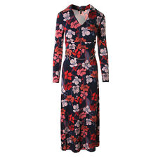 NWT JUICY COUTURE Gold Chain Belt Navy Maxi Floral Print Casual Dress $298