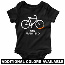 Bike San Francisco One Piece - Baby Infant Creeper Romper NB-24M - Gift Bicycle