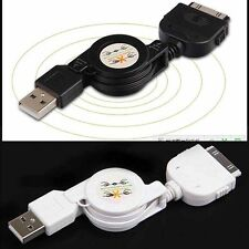 Retractable USB Data Sync&Charger Cable for iPod iPhone 4S 4 3GS Touch nano blac