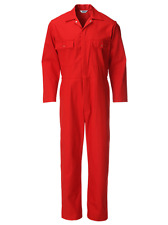 Men's Red Work Overalls/Coveralls/Boiler Suits