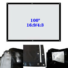 """100"""" 16:9/4:3 Foldable Projector Soft Screen SP92 HD Movie Cinema Theater Buy"""