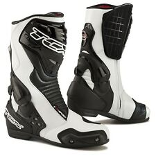 TCX S-Speed White/Black Motorcycle Boots Size 42 EX-DISPLAY RRP £169.99!!