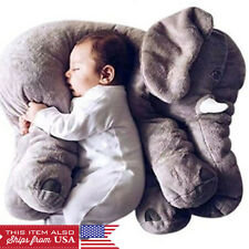 Grey Elephant Stuffed Plush Pillow Pals Cushion Plush Toy Cute Baby Pillow
