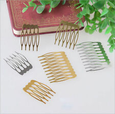 10Pcs Fashion Women Silver Gold Plated Metal Combs Clip Pin Hair Accessories