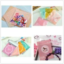 100Pcs Self Adhesive Bags DIY Cookie Candy Package Cellophane Gift Bag 3 Type