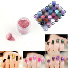 6/12/24/45 Mix Color Glitter Dust Powder Set for Nail Art t Acrylic Tip Decor CL