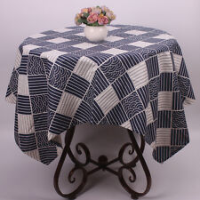 Traditional Japanese Plaid Table Cloth for Restaurant Cotton Linen Table Covers