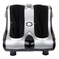 PureMate Shiatsu Kneading Rolling Foot & Calf Massager with Heat and Vibration