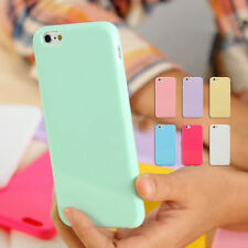 Ultra Thin Candy TPU Silicone Rubber Soft Case Cover For iPhone4 5S 5C 6S 7 Plus