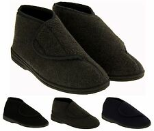 Mens Coolers Orthopaedic Slipper Boots Velcro Fastening Size Sz 7 8 9 10 11 12