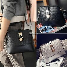 Fashion Korean Women Synthetic Leather Shoulder Small Bag Tote Weave BF901