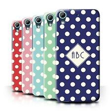 Personalized Custom Polka Dot Phone Case for HTC Desire 626G+/Initial/Name Cover