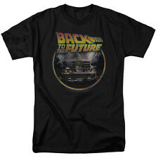 Back to the Future Movie BACK Delorean Vintage Style Adult T-Shirt All Sizes