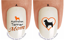 "WaterSlide Decal Set#1086 ""Australian Terrier MOM 2 Heart"" Nail Art Transfers"