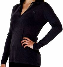 Polo Shirt Woman V Neck Black Fred Perry Sweater Woman V Neck Black 31052080