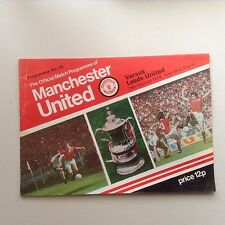 1977/78 Manchester United Football Programmes - Various Fixtures