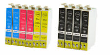 10 printer cartridge ink cartridges compatible with Epson T0711-14