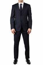 Luciano Barbera Men's Two Button Wool Suit Navy