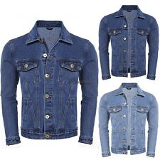 New Mens Casual Long Sleeve Turn Down Collar Button Basic Denim Jacket WT8801
