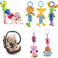 Baby Infant Rattles Plush Animal Stroller Hanging Bell Toy Doll Wind Chimes OB